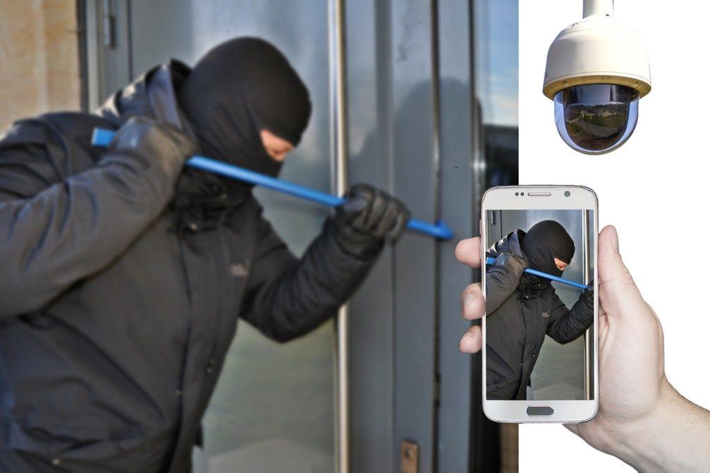 burglar, burglary, surveillance camera